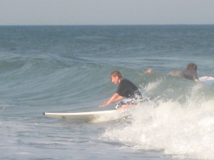 Ry goes surfing. (Anne Helmenstine)