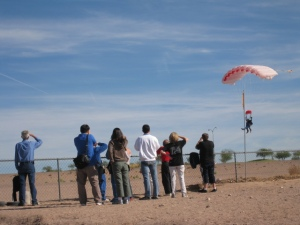 Approaching the landing zone.