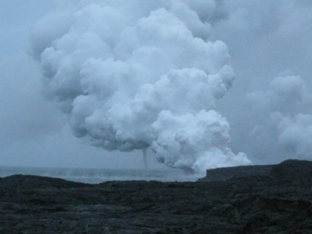 Twister Spawned by Kilauea Lava Flow