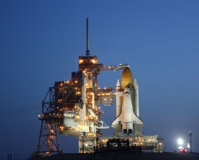Space Shuttle Discovery at Dawn