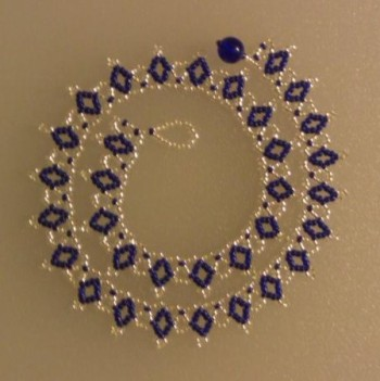 Wire & Bead Crochet Jewelry Patterns: Free Crochet Necklace