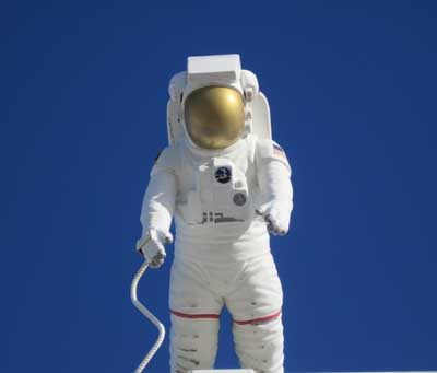 Astronaut at KSC Visitor Center