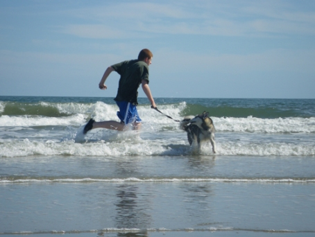 Eric and Sakari at Pawleys Island
